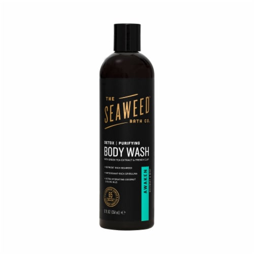 The Seaweed Bath Co  Awaken Rosemary & Mint Purifying Detox Body Wash Perspective: front