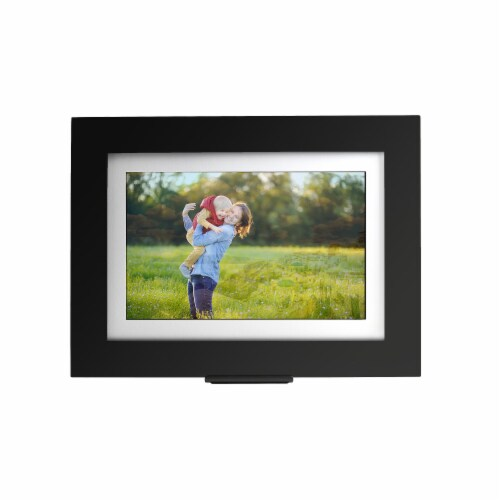 Brookstone PhotoShare Friends and Family Cloud Photo Frame - Black Perspective: front