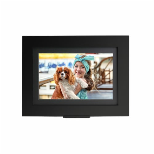 Brookstone PhotoShare Friends and Family Cloud Frame - Black Perspective: front