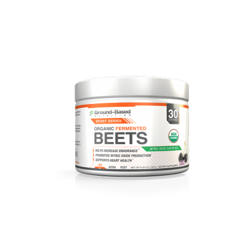 Ground-Based Nutrition Organic Black Cherry Fermented Beets Perspective: front