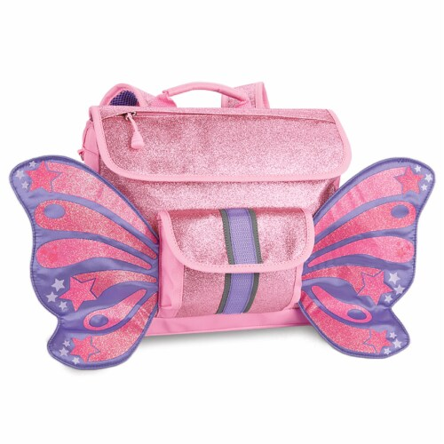 Bixbee Small Sparkalicious Butterflyer Backpack - Pink Perspective: front