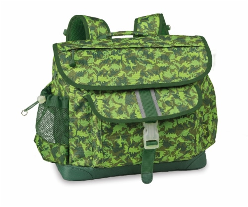 Bixbee Medium Dino Camo Backpack - Green Perspective: front