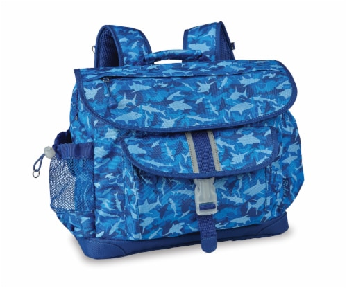 Bixbee Large Shark Camo Backpack - Blue Perspective: front