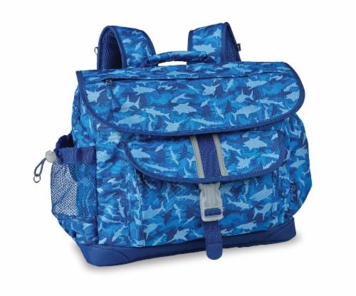 Bixbee Large Shark Camo Backpack - Blue Perspective: front
