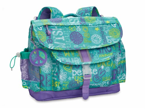 Bixbee Large Hope Peace Love Backpack Perspective: front