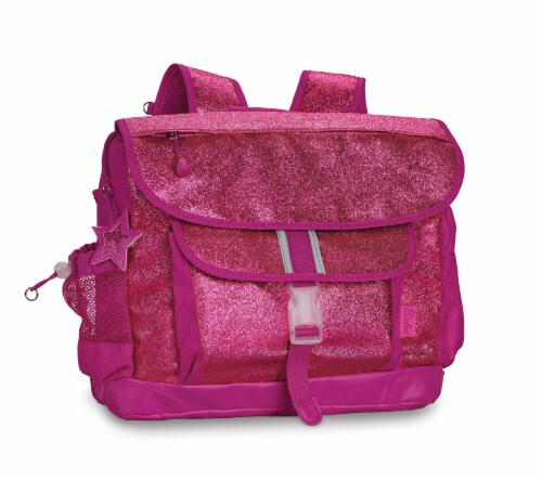 Bixbee Large Sparkalicious Backpack - Ruby Raspberry Perspective: front