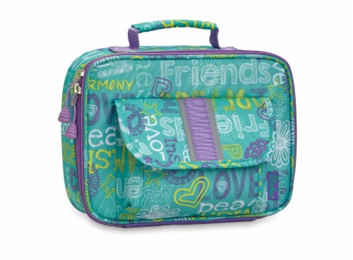 Bixbee Hope Peace Love Lunchbox Perspective: front