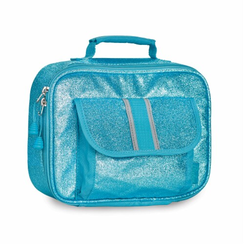 Bixbee Sparkalicious Lunchbox - Turquoise Perspective: front