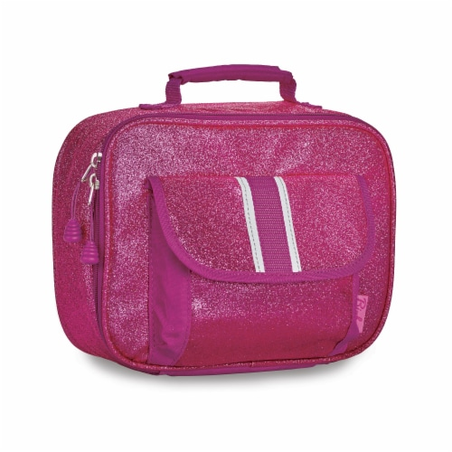 Bixbee Sparkalicious Lunchbox - Ruby Raspberry Perspective: front