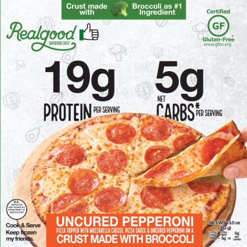 The Real Good Food Company Super Food Crust Pepperoni Pizza Perspective: front