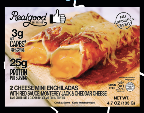 Realgood Cheese Enchiladas Perspective: front