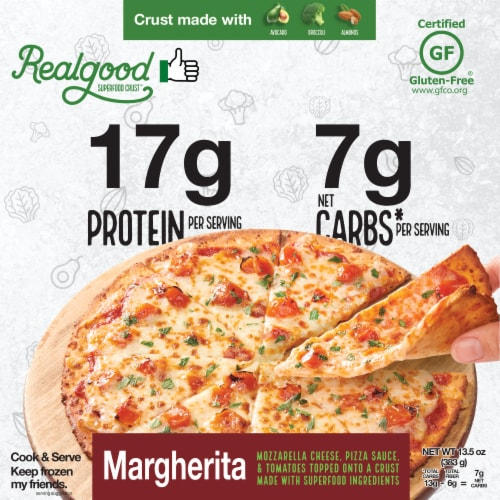 The Real Good Food Company Super Food Crust Margherita Pizza Perspective: front
