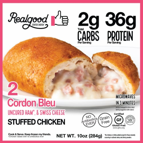 The Real Good Food Company Stuffed Chicken Cordon Bleu Perspective: front