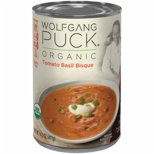 Wolfgang Puck Organic Tomato Basil Bisque Soup Perspective: front