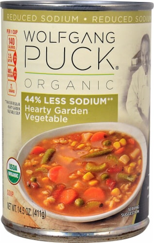 Wolfgang Puck Organic Reduced Sodium Hearty Garden Vegetable Soup Perspective: front