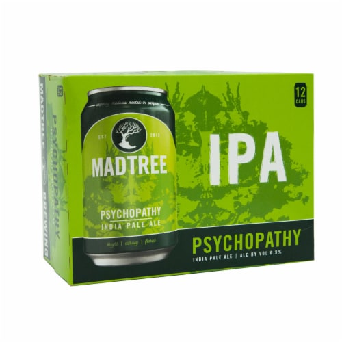 Madtree Brewing Company Psycopathy India Pale Ale Perspective: front
