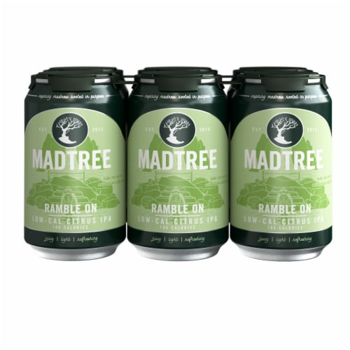 Madtree Brewing Company Ramble On Low-Cal Citrus IPA Beer Perspective: front