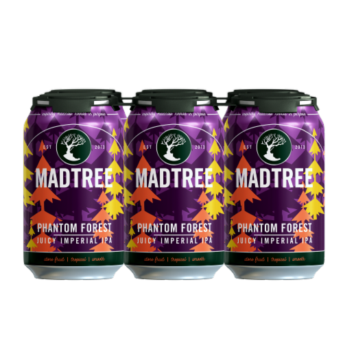 Madtree Brewing Company Phantom Forest Juicy Imperial IPA Perspective: front