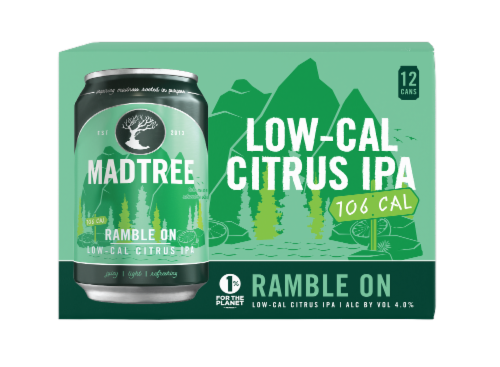 Madtree Brewing Company Ramble On Low-Cal Citrus IPA Perspective: front