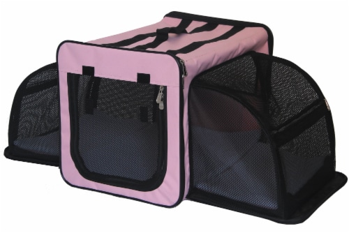 Pet Life H5PKXS Capacious Dual Expandable Wire Dog Crate, Pink - Extra Small Perspective: front