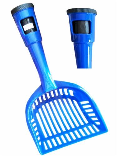 Pet Life PS1BL Pooper Scooper Litter Shovel, Blue - One Size Perspective: front