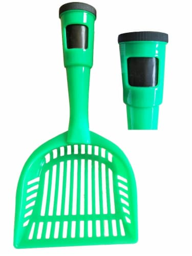 Pet Life PS1GN Pooper Scooper Litter Shovel, Green - One Size Perspective: front