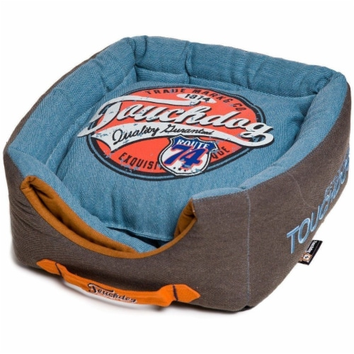 Pet Life PB31LBLLG Touchdog Convertible and Reversible Squared 2-in-1 Dog Bed Perspective: front