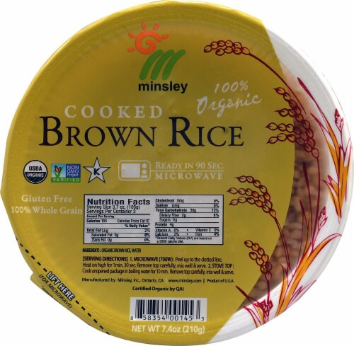 Go Go Rice  Organic Cooked Brown Rice Perspective: front