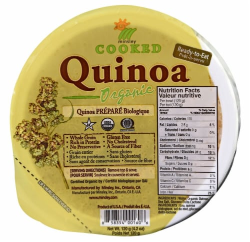Minsley  Organic Cooked Quinoa Perspective: front