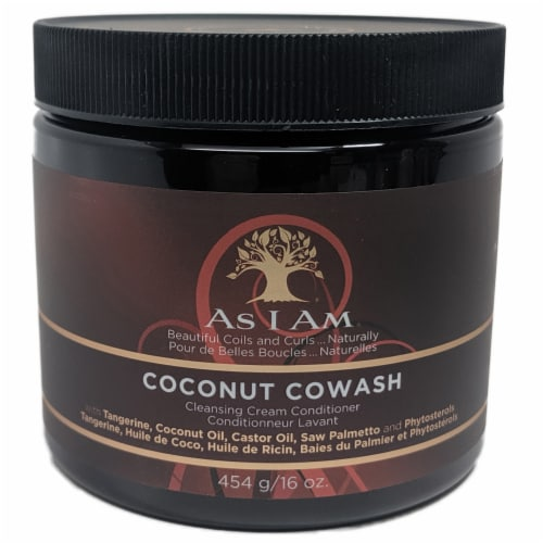 As I Am Coconut CoWash Cleansing Cream Conditioner Perspective: front