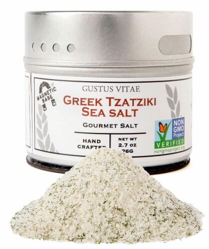 Gustus Vitae Greek Tzatziki Gourmet Sea Salt Perspective: front