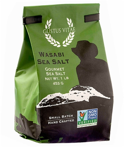 Gustus Vitae Gourmet Wasabi Sea Salt Perspective: front