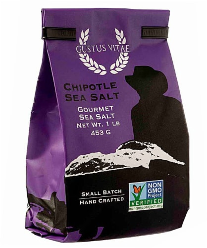 Gustus Vitae  Gourmet Sea Salt   Chipotle Perspective: front