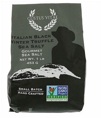 Gustus Vitae Gourmet Italian Black Winter Truffle Sea Salt Perspective: front