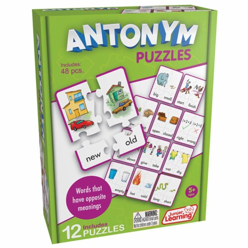 Junior Learning JRL242 Age 5 Plus Antonym Puzzles Perspective: front
