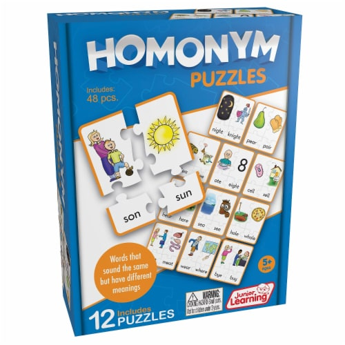 Homonym Puzzles Perspective: front