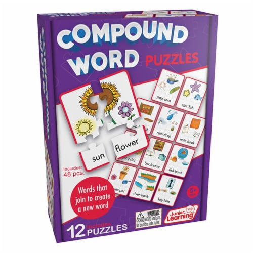 Junior Learning JRL244 Age 5 Plus, Compound Puzzles Perspective: front