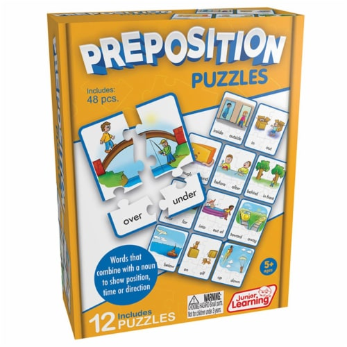 Junior Learning JRL245 Age 5 Plus, Preposition Puzzles Perspective: front