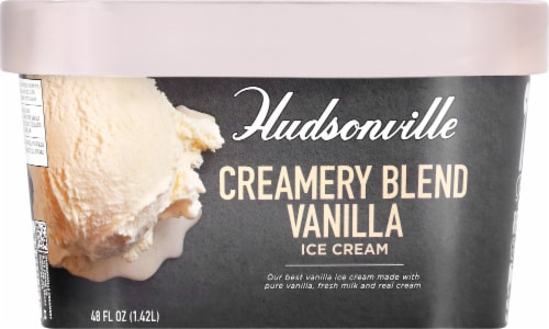 Hudsonville Premium Creamery Blend Vanilla Ice Cream Perspective: front