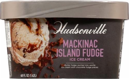 Hudsonville Premium MacKinac Island Fudge Ice Cream Perspective: front