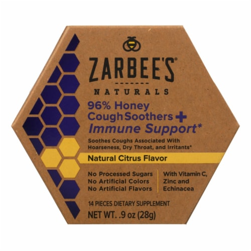 Zarbee's Naturals 96% Honey Cough Soothers & Immune Support  - 1 Each - .9 FZ Perspective: front