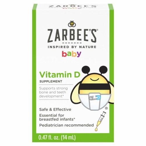 Zarbee's® Naturals Baby Vitamin D Supplement Liquid Perspective: front