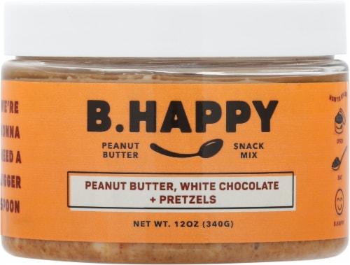 B.Happy Dream Big White Chocolate Pretzel Peanut Butter Perspective: front