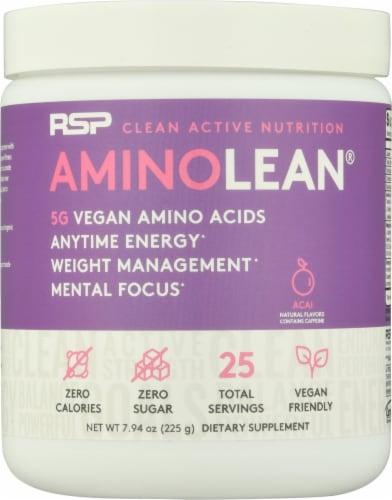 RSPNutrition Vegan AminoLean Acai Dietary Supplement Perspective: front