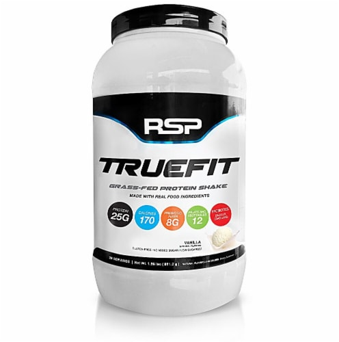 RSPNutrition  TrueFit Grass-Fed Protein Shake   Vanilla Perspective: front