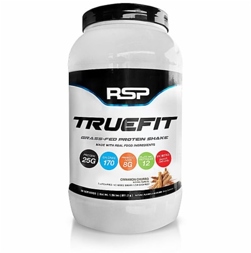 RSPNutrition  TrueFit Grass-Fed Protein Shake   Cinnamon Churro Perspective: front