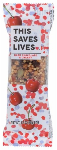 This Saves Lives™ Dark Chocolate & Cherry Bar Perspective: front