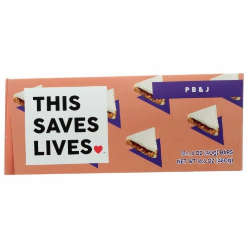 This Bar Saves Lives Peanut Butter & Jelly Bar Perspective: front