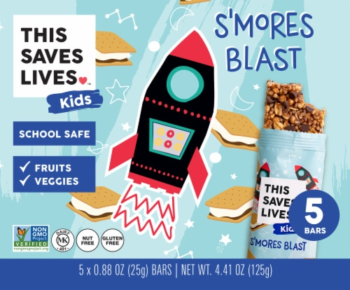 This Saves Lives Kids S'mores Blast Bars Perspective: front