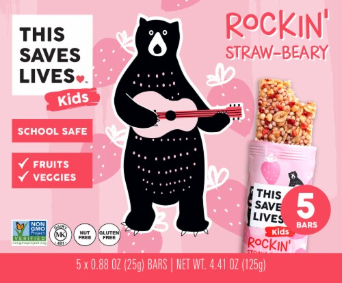 This Saves Lives Rockin Strawberry Bars Perspective: front